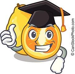 Graduation ugli in the mascot fruit basket illustration...