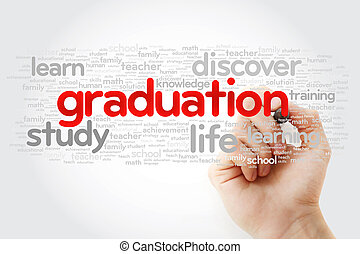 GRADUATION word cloud with marker
