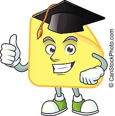 Graduation yellow rounded sticker paper for business