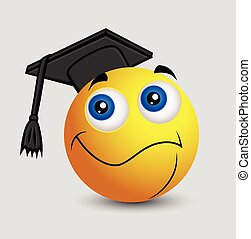 graduazione, -, emoji, smiley, emoticon