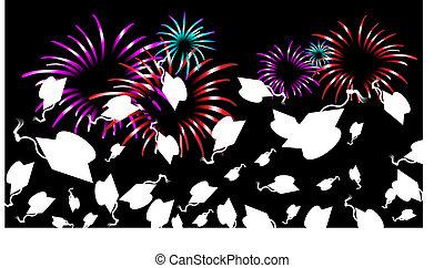 graduazione, fireworks