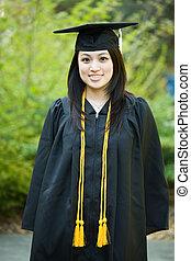 graduazione, ragazza