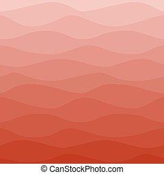 graduel, ondulé, arrière-plan rouge