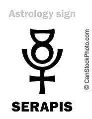 graeco-egyptian, god), (hellenistic, astrology:, serapis