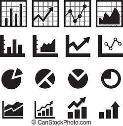 graf, a, diagram, ikona