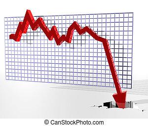 graf, showing, ošklivý, nádobí