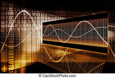 graf, tech, finans, kalkylblad