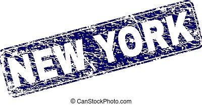 graffiato, arrotondato, francobollo, incorniciato, york, nuovo, rettangolo