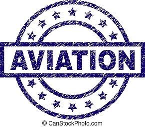graffiato, aviazione, textured, francobollo, sigillo