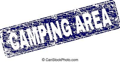 graffiato, campeggio, zona, incorniciato, arrotondato, rettangolo, francobollo