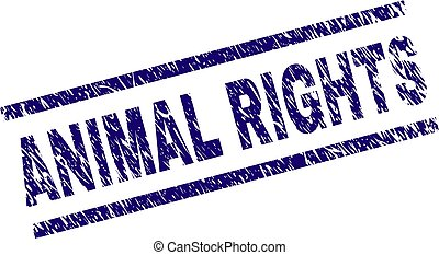 graffiato, diritti, francobollo, sigillo, animale, textured