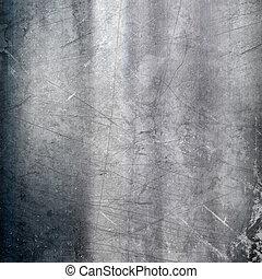 graffiato, fondo, metallico