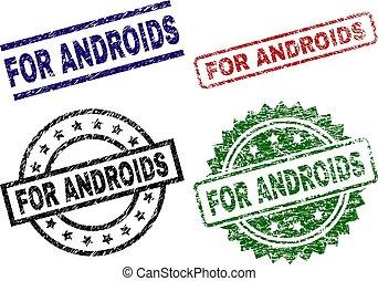 graffiato, francobolli, sigillo, androids, textured