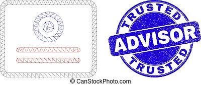 graffiato, francobollo, consigliere, sigillo, certificato, ...