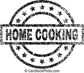 graffiato, francobollo, cottura, textured, casa, sigillo