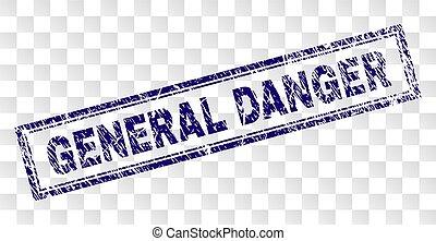 graffiato, francobollo, generale, rettangolo, pericolo