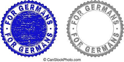 graffiato, francobollo, grunge, tedeschi, sigilli