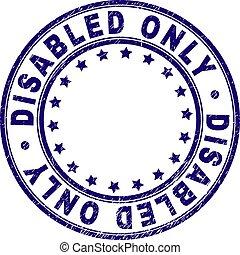 graffiato, francobollo, sigillo, invalido, soltanto, textured, rotondo