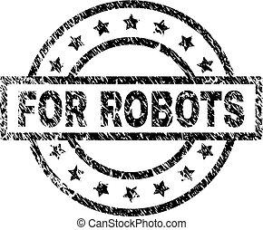graffiato, francobollo, sigillo, robot, textured