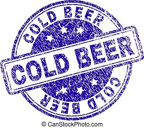 graffiato, francobollo, textured, birra, sigillo, freddo
