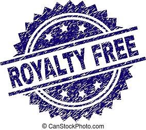 graffiato, francobollo, textured, libero, regalità, sigillo