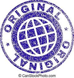 graffiato, francobollo, textured, originale, sigillo