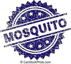 graffiato, francobollo, textured, zanzara, sigillo