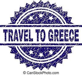 graffiato, francobollo, viaggiare, sigillo, grecia, textured