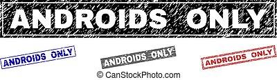 graffiato, grunge, androids, soltanto, francobolli,...