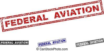 graffiato, grunge, federale, francobolli, aviazione, rettangolo