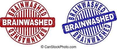 graffiato, grunge, francobollo, brainwashed, sigilli, rotondo