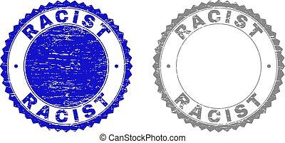 graffiato, grunge, francobollo, razzista, sigilli