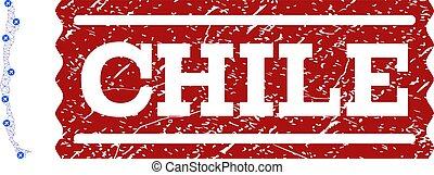graffiato, mappa, francobollo, aria, polygonal, maglia, cile, biglietto, composizione