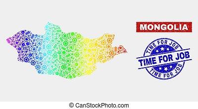 graffiato, mappa, servizio, francobollo, spettro, mongolia, sigilli, lavoro, tempo