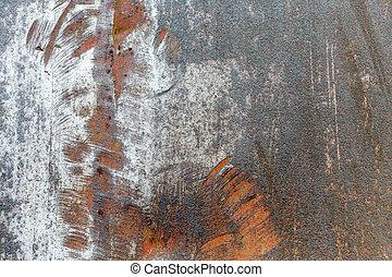 graffiato, metallo, struttura