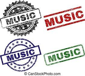 graffiato, textured, musica, francobollo, sigilli