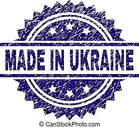 graffiato, ucraina, fatto, francobollo, textured, sigillo