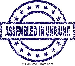 graffiato, ucraina, francobollo, sigillo, textured, montato