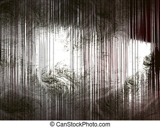 graffiato, vecchio, metallo, struttura, bordi, ombreggiato