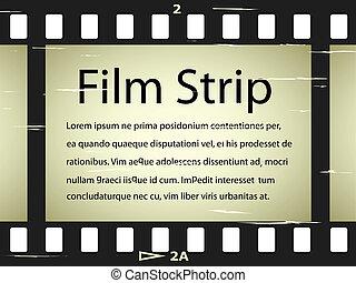 graffiato, vettore, striscia cinematografica