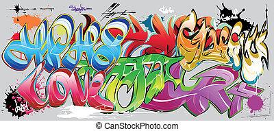 graffiti, 牆