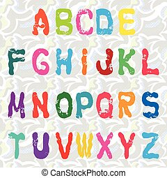 Graffiti alphabet vector illustration Collection