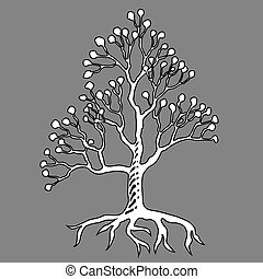 Graffiti art illustration. Abstract tree icon