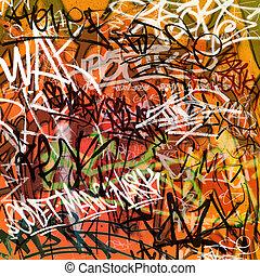 Graffiti Background - A Messy Graffiti Wall Background