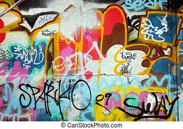 Graffiti background - Abstract colorful graffiti background...