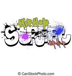 Graffiti background, urban art