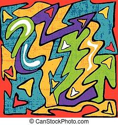graffiti beautiful abstract background