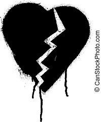 Graffiti Broken heart