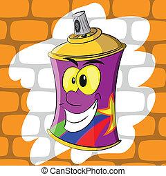 Graffiti spray aerosol