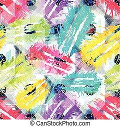 graffiti, coloré, texture, seamless